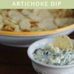 Monterey Jack Spinach Artichoke Dip on dineanddish.net