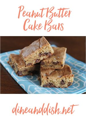 Vacation Preparation (Peanut Butter Cake Bars Recipe)