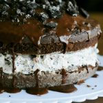 Chocolate Covered Oreo Cookie Cake Dessert - Dine and Dish