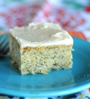 Babies, BlogHer and Banana Bars (Recipe: Frosted Banana Bars)