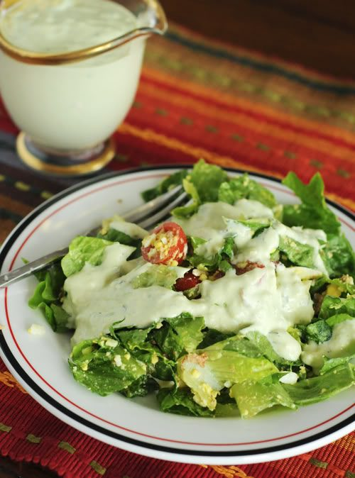 Avocado Ranch Salad Dressing Recipe on dineanddish.net