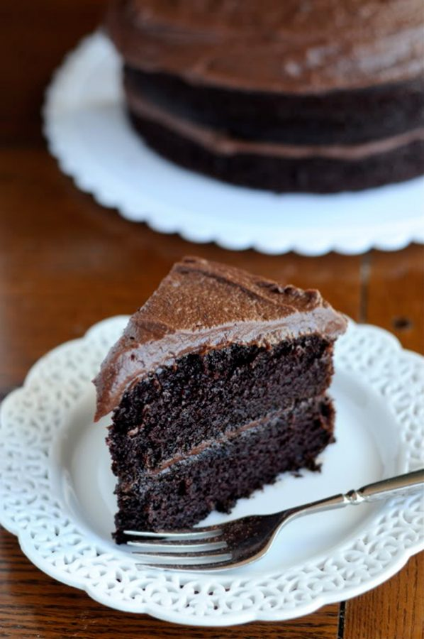 The Very Best Chocolate Cake Recipe with One Bowl Chocolate Frosting from dineanddish.net