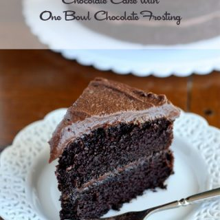 The Very Best Chocolate Cake with One Bowl Frosting from dineanddish.net