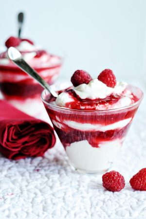 Berry Overindulgence (Recipe: Paula Deen's Raspberry Parfaits)