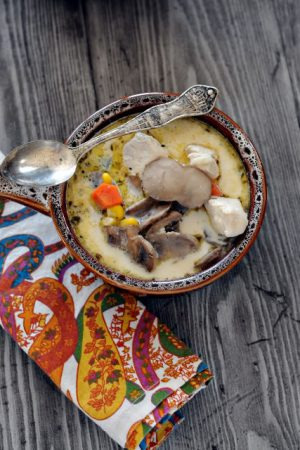 Have You Adopted a Blogger Today? (Recipe: Zippy Chicken Mushroom Soup)