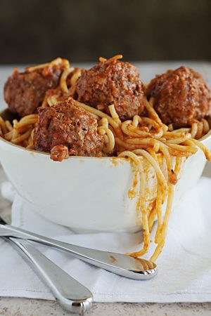 Mom's Spaghetti And Meatballs from Dine and Dish