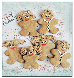 Gingerbread Family Down border