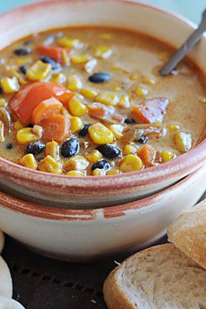 Roasted Corn and Black Bean Soup – Soup-A-Palooza