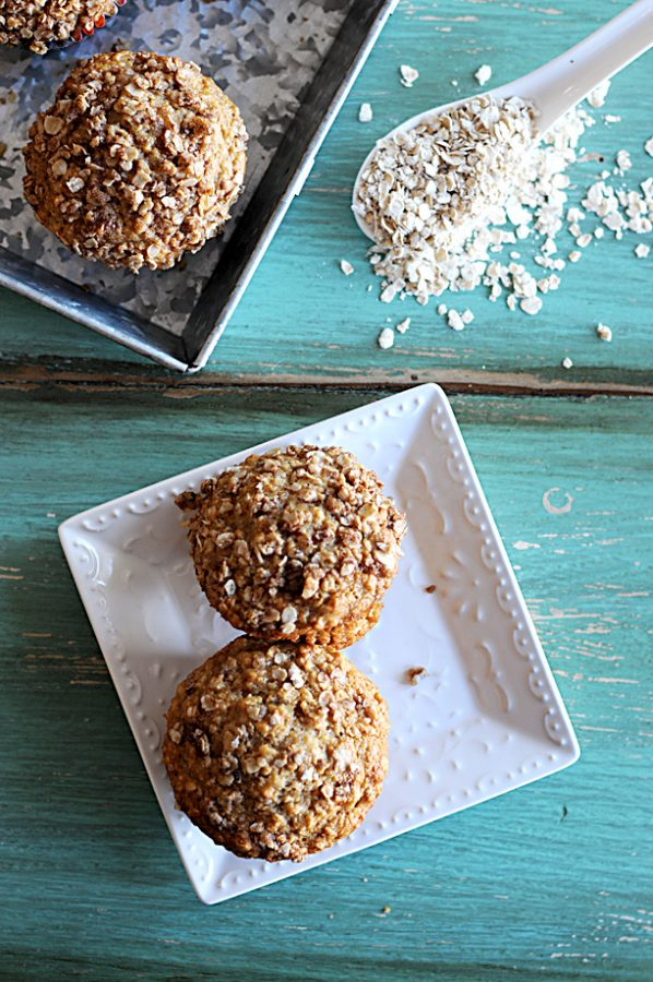 Applesauce Oatmeal Streusel Muffins with Quaker Oats