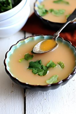 sweet potato soup with Tabasco