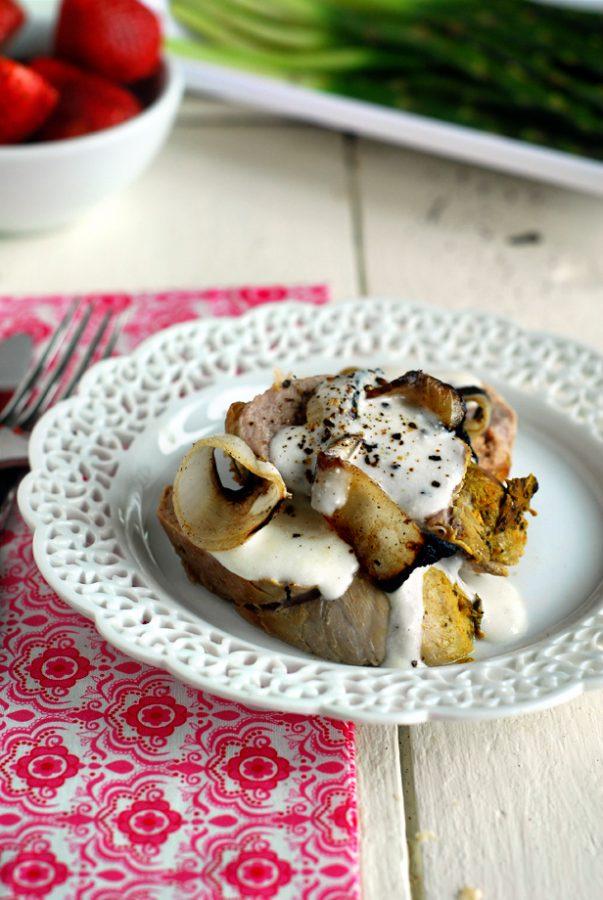 Pork Loin with Sour Cream & Onion Sauce
