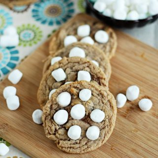 hot chocolate cookies with marshmallows