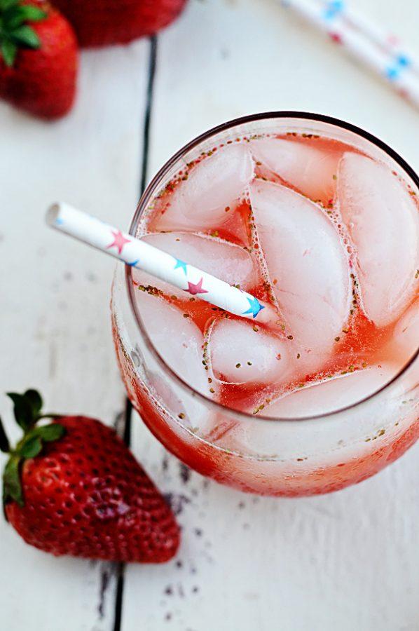 Strawberry Lemonade Spritzer Recipe