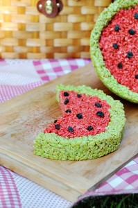 Summer Rice Krispies Treat Challenge {Recipe: Tangy Watermelon Rice Krispies Treats}