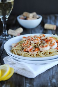 The Gift of Time {Recipe: Lemon Pepper Shrimp Over Pasta}