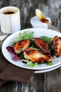 Oven Baked Chicken Wings with Sweet BBQ Sauce