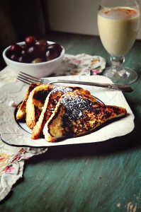 Morning Thanks {Recipe: Eggnog French Toast}