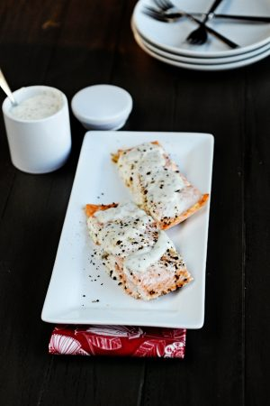 Breakstone's Sour Cream Holiday Showdown {Recipe: Salmon with Creamy Herb Sauce}