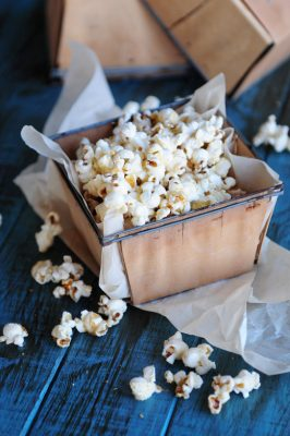 Buttery Brown Sugar Popcorn Recipe - sweet and salty and just right for snacking!