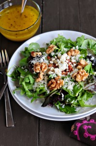 The Runner's Diet {Recipe: Spring Salad with Orange Vinaigrette}