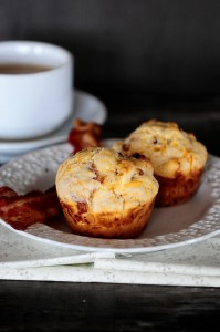 Bacon and Cheese Breakfast Muffins with a Kick