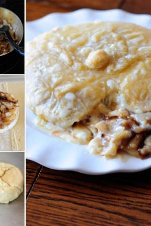 Man Pleasing Baked Brie {Recipe: Baked Brie with Caramelized Onions}