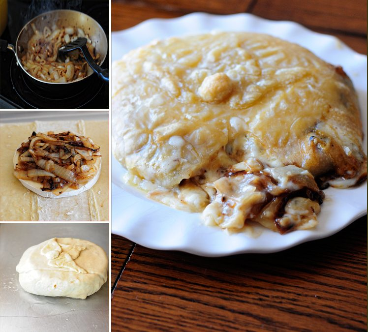 Baked Brie with Caramelized Onions Recipe on dineanddish.net
