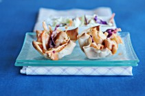 smbuffalo chicken wonton cups