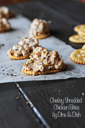 Simple Appetizer – Cheesy Shredded Chicken Bites