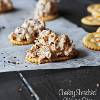 Cheesy Shredded Chicken Bites