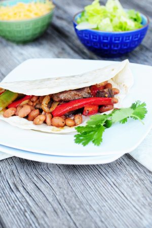 Versatile Beans  {Recipe: Steak and Bean Fajitas}