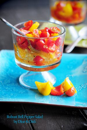 It's a Salad Social! {Recipe: Robust Bell Pepper Salad}