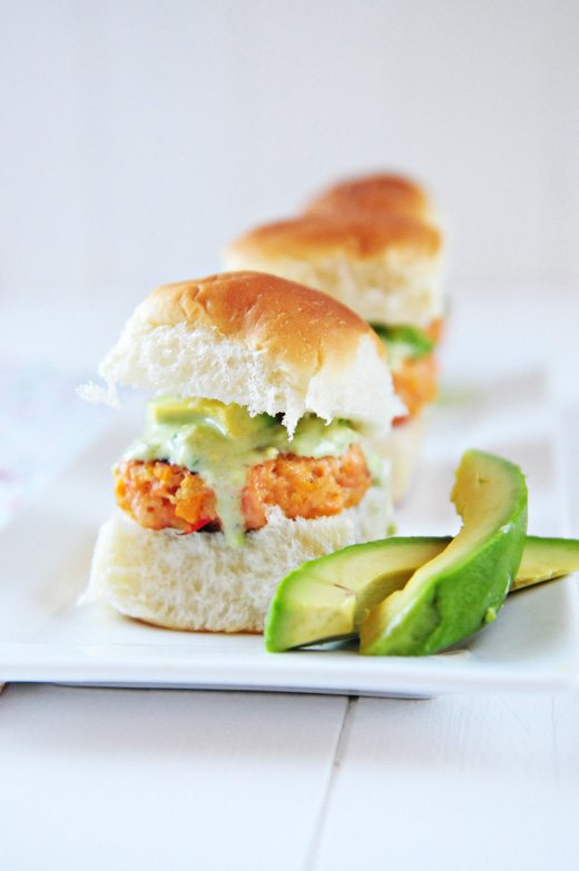 ... Recipe: Salmon Sliders with Tangy Avocado Sauce - Dine and Dish
