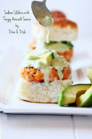 #CaAvoBlast Recipe: Salmon Sliders with Tangy Avocado Sauce