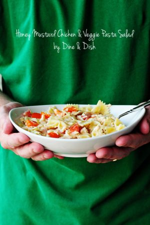 Recipe: Honey Mustard Chicken & Veggie Pasta Salad