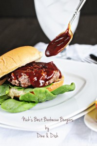 The Burger King {Recipe: Nick's Best Barbecue Burgers}