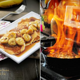 Bananas Foster Pancakes from Dine & Dish
