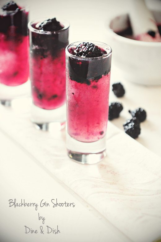 Blackberry Gin Shooters Cocktail