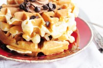 Cookie Dough Waffles by Dine & Dish