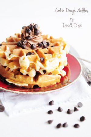 Belgian Cookie Dough Waffles Recipe