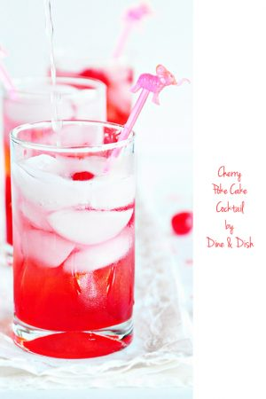 Then There Were Two {Recipe: Cherry Poke Cake Cocktail}