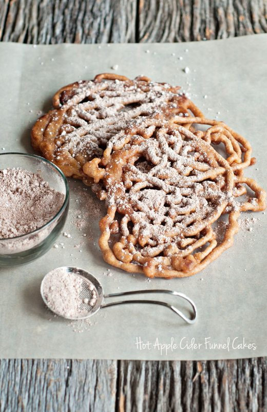 Hot Apple Cider Funnel Cakes