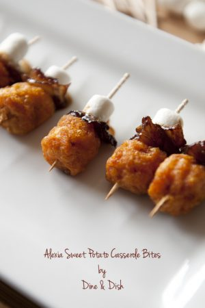 Game Day With Alexia {Recipe: Sweet Potato Casserole Bites}