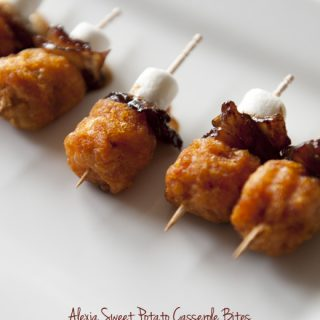 Sweet Potato Casserole Bites from dineanddish.net
