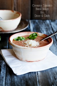 A New Love {Recipe: Creamy Tomato Basil Soup}