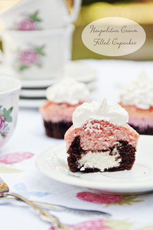 Baby Love {Recipe: Neapolitan Cream Filled Cupcakes}