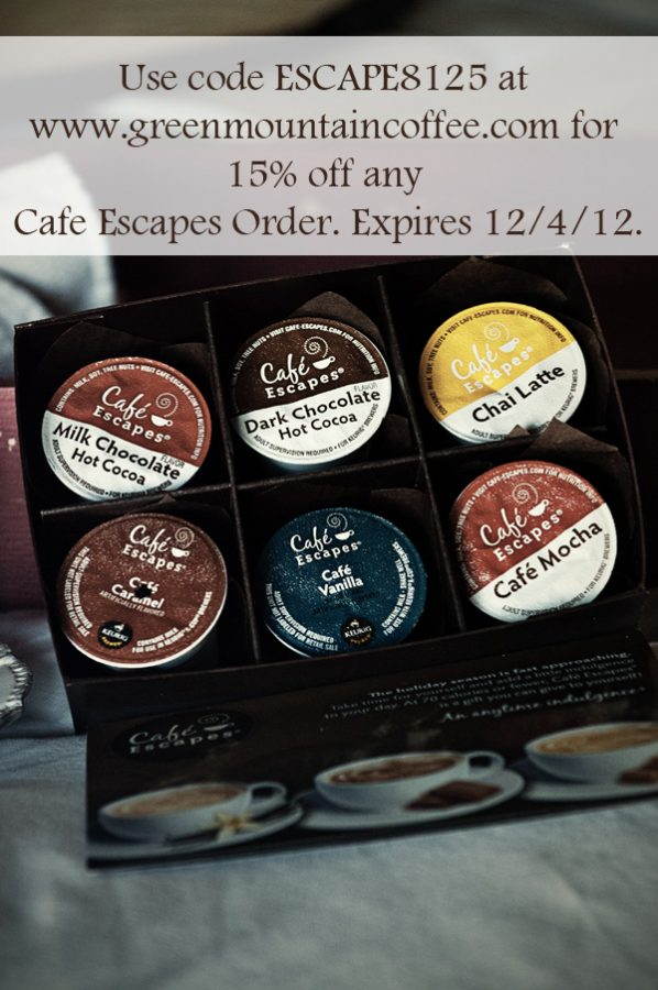 Cafe Escapes 15% off Discount Code K-Cups