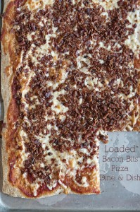 Friday Night Pizza {Recipe: Loaded Bacon Bits Pizza}