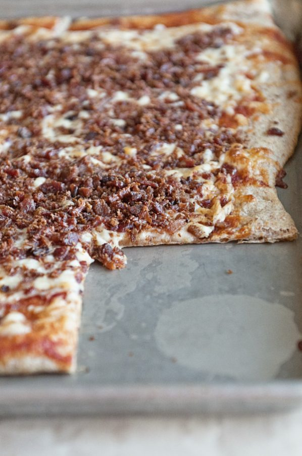 Loaded Bacon Bits Pizza Like Monical's