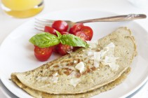 Tomato Basil Omelet & Secrets to making the PERFECT omelet from www.dineanddish.net